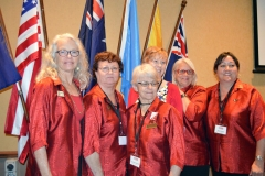 Caboolture Zontians looking respelendent in their shirts