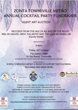 Cocktail Party & Silent Art Auction - Townsville @ Queens Hotel | Townsville City | Queensland | Australia