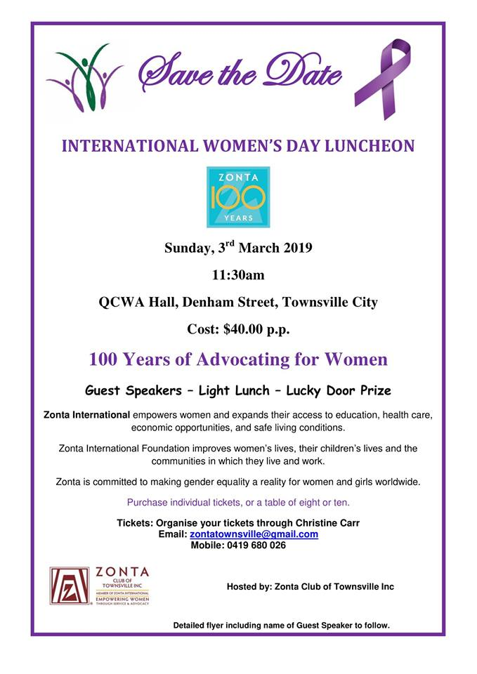 2019 IWD Lunch - Townsville @ QCWA Hall | Queensland | Australia