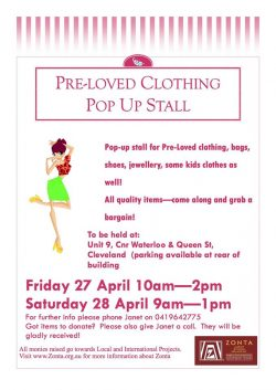 Pre-Loved Clothing Pop-Up Shop @ Cleveland | Queensland | Australia