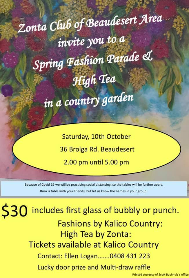 Spring Fashion Parade & High Tea