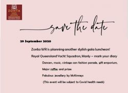 ZontaWR Gala Luncheon - Save the Date! @ Royal Queensland Yacht Squadron