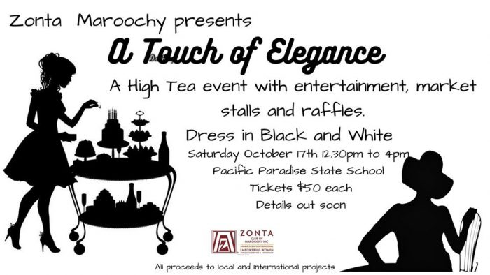 A Touch of Elegance High Tea - Save the Date @ Pacific Paradise State School