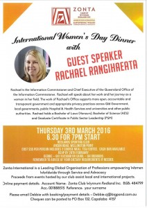 IWD Dinner 2016 - Wynnum Redland @ Redlands Sporting Club | Wellington Point | Queensland | Australia