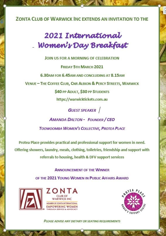 IWD 2021 Breakfast - Warwick @ The Coffee Club