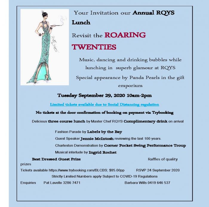 ZontaWR Spring Luncheon - Revisit The Roaring Twenties @ Royal Queensland Yacht Squadron