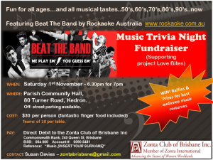 Beat the Band music trivia night @ Parish Community Hall | Kedron | Queensland | Australia